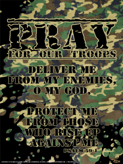 Pray for Our Troops Poster