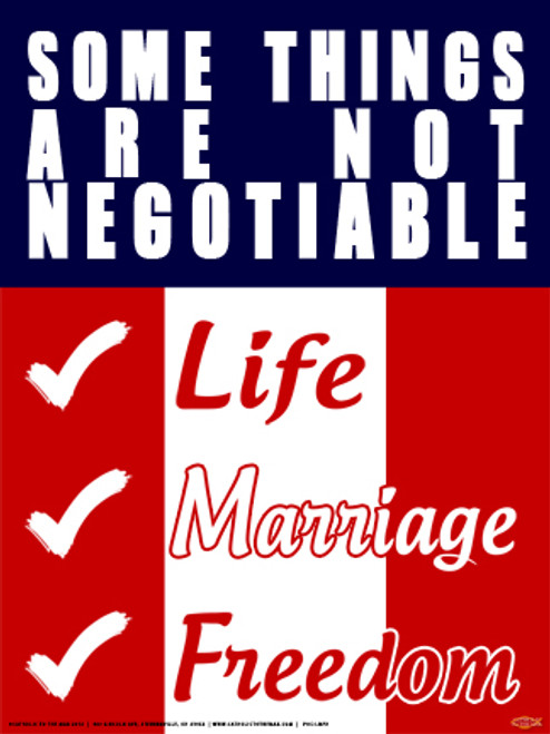 Some Things are Not Negotiable Poster