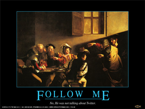 """""""Follow Me on Twitter"""" Poster"""