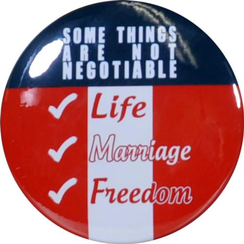 I Vote my Values Button