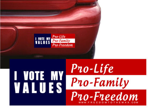 I Vote my Values Bumpersticker (Large)