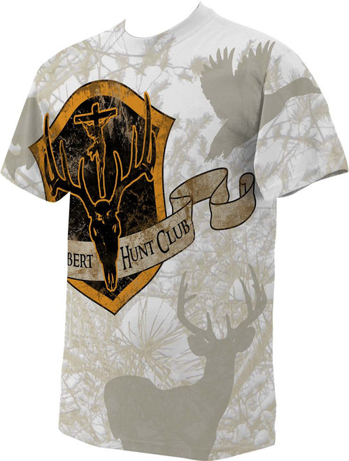 St. Hubert Hunt Club Full Color White Camo T-shirt