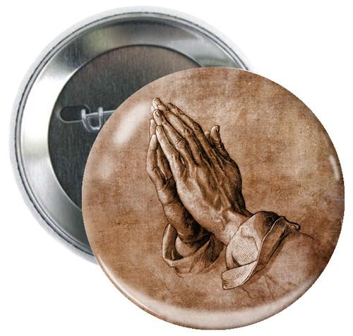 Hands in Prayer Button