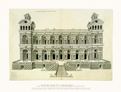 Facade d' Palais Paper Print