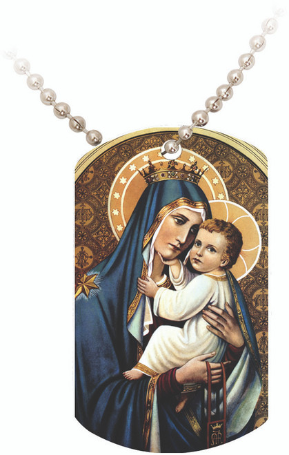 Our Lady of Mt. Carmel Dog Tag
