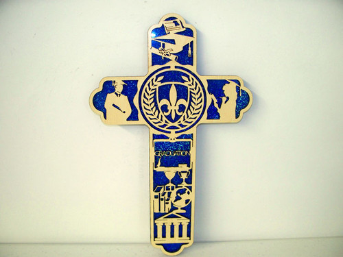 Graduation Engraved Cross
