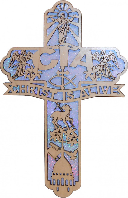 CIA Acronym Engraved Cross