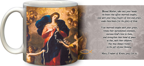 Mary Undoer of Knots Marriage Prayer Mug