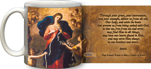 Mary Undoer of Knots Pope Francis' Prayer Mug