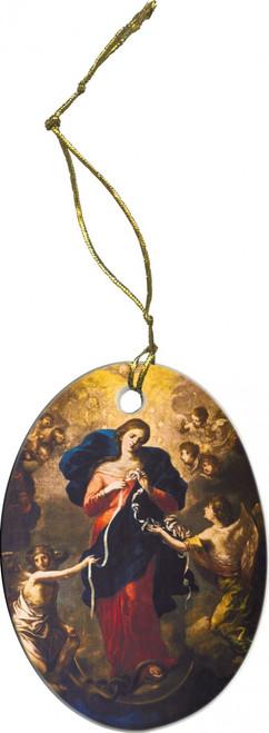 Mary Undoer of Knots Ornament