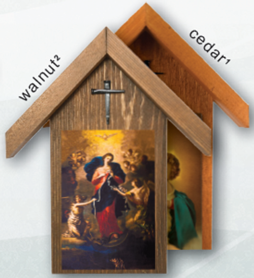 Mary Undoer of Knots Handcrafted Simple Outdoor Shrine