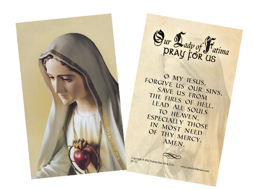 Our Lady of Fatima Decade Prayer Holy Card