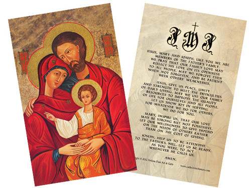 Holy Family Icon Holy Card