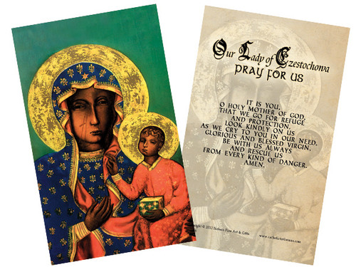 Our Lady of Czestochowa Holy Card