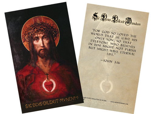 For God So Loved the World Holy Card