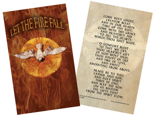 Let the Fire Fall Holy Card