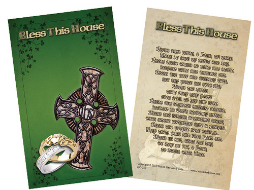 "Irish ""Bless This House"" Holy Card"
