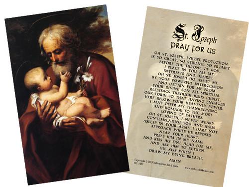 St. Joseph Novena (That Never Fails) Holy Card