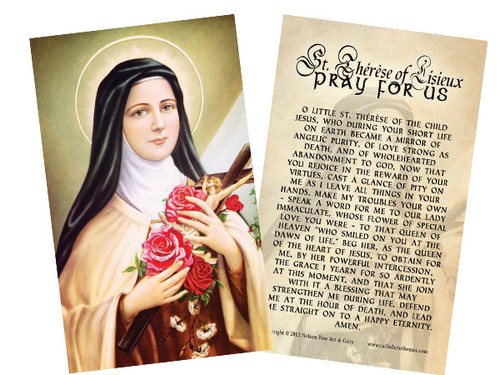 St. Therese of Lisieux Holy Card