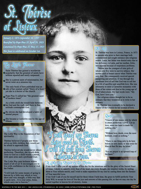Saint Therese Explained Poster II