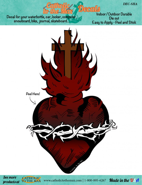Sacred Heart Decal