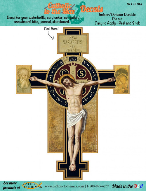 Benedictine Cross Decal