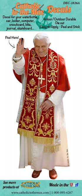 Pope Benedict XVI in Red Decal