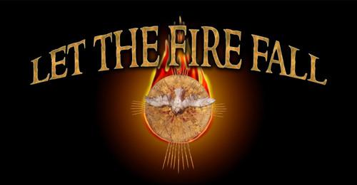 Let the Fire Fall (black) Vinyl Bumper Sticker