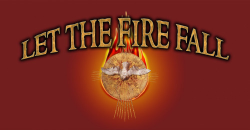 Let the Fire Fall (red) Vinyl Bumper Sticker