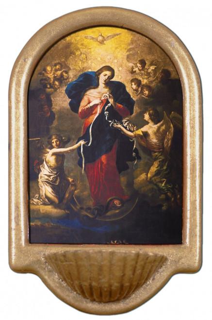 Mary Undoer of Knots Holy Water Font