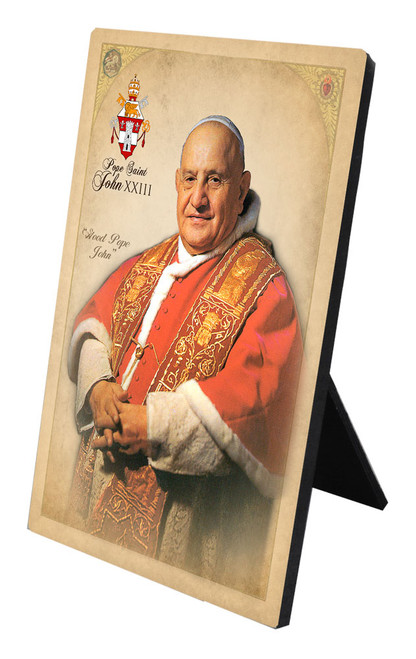 Commemorative Pope St. John XXIII Desk Plaque