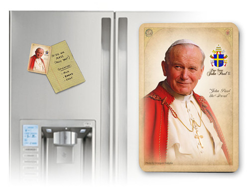 Pope John Paul II Sainthood Portrait Commemorative Magnet