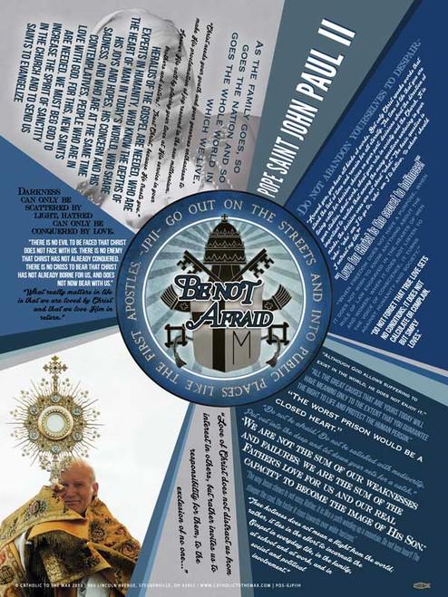 Be Not Afraid John Paul II Quote Poster