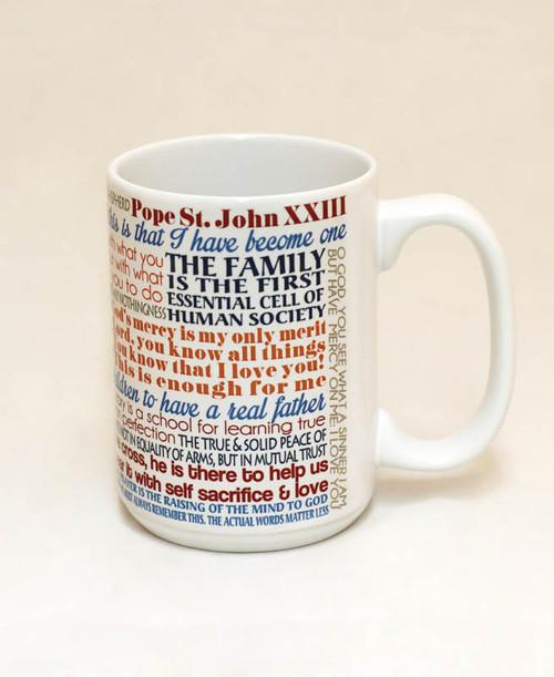 Pope Saint John XXIII Quote Mug