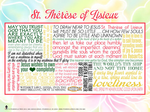 Saint Therese of Lisieux Quote Poster