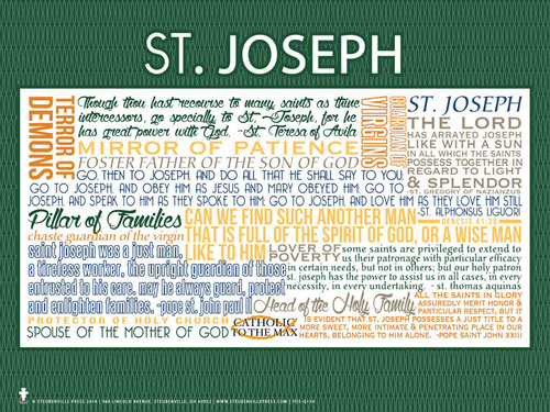 Saint Joseph Quote Poster