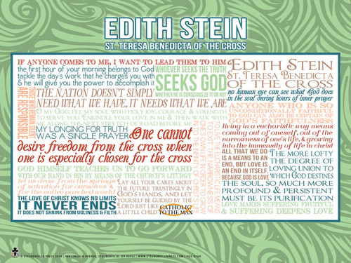 St. Edith Stein Teresa Benedicta Quote Poster