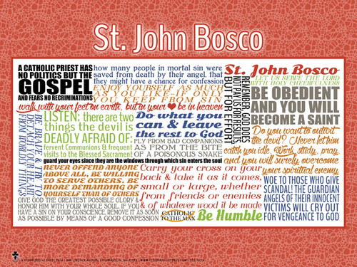 Saint John Bosco Quote Poster