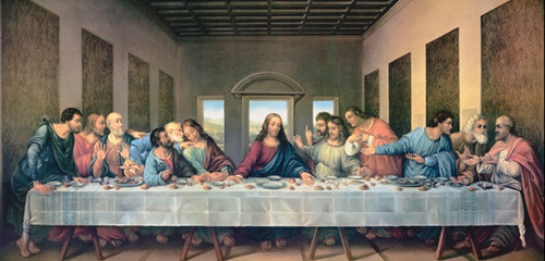 Last Supper by Da Vinci Restored Print in Assorted Frames