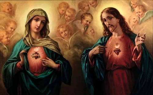 Sacred and Immaculate Hearts Print in Assorted Frames
