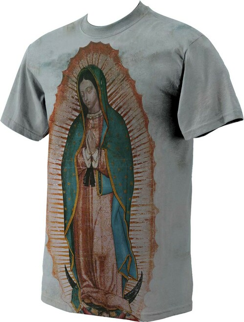 Our Lady of Guadalupe Graphic Poly T Shirt