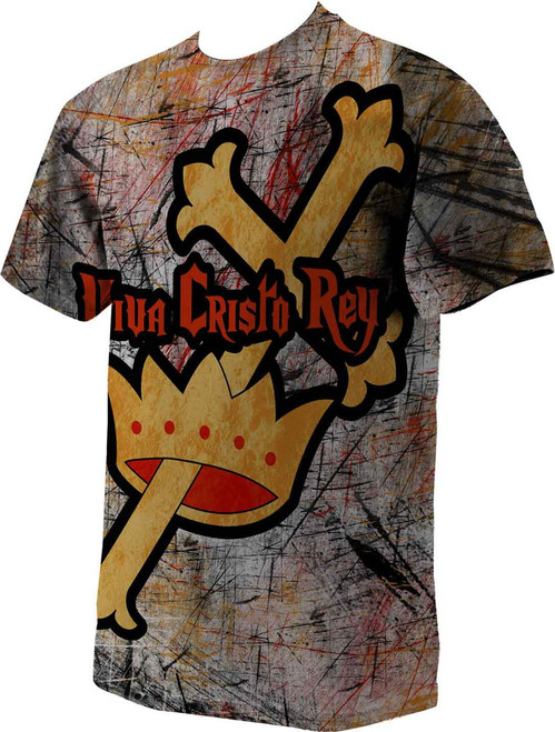 Viva Cristo Rey Graphic Poly T Shirt