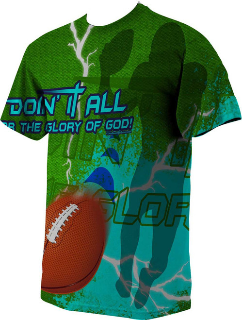 """Doing It All"" Football Graphic Poly T Shirt"