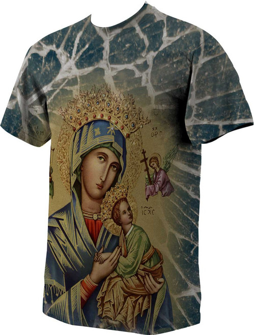 Our Lady of Perpetual Help (Gold) Graphic Poly T Shirt
