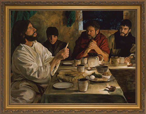 Institution of the Eucharist by Jason Jenicke - Gold Framed Art