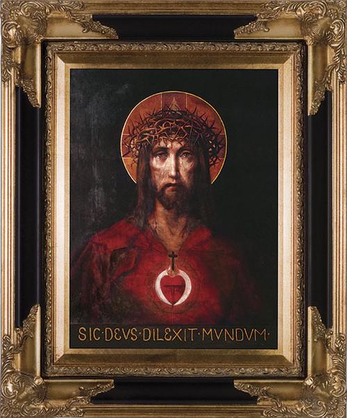 For God So Loved The World Canvas - Dark Museum Framed Canvas