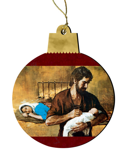 Holy Family Gift Wood Ornament