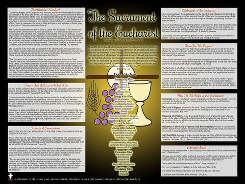 The Mass & Eucharist Explained Poster (Modern)