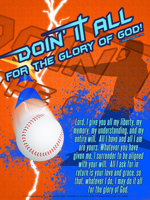 """Doing It All"" Baseball Poster"
