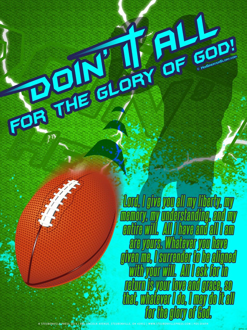 """Doing It All"" Football Poster"
